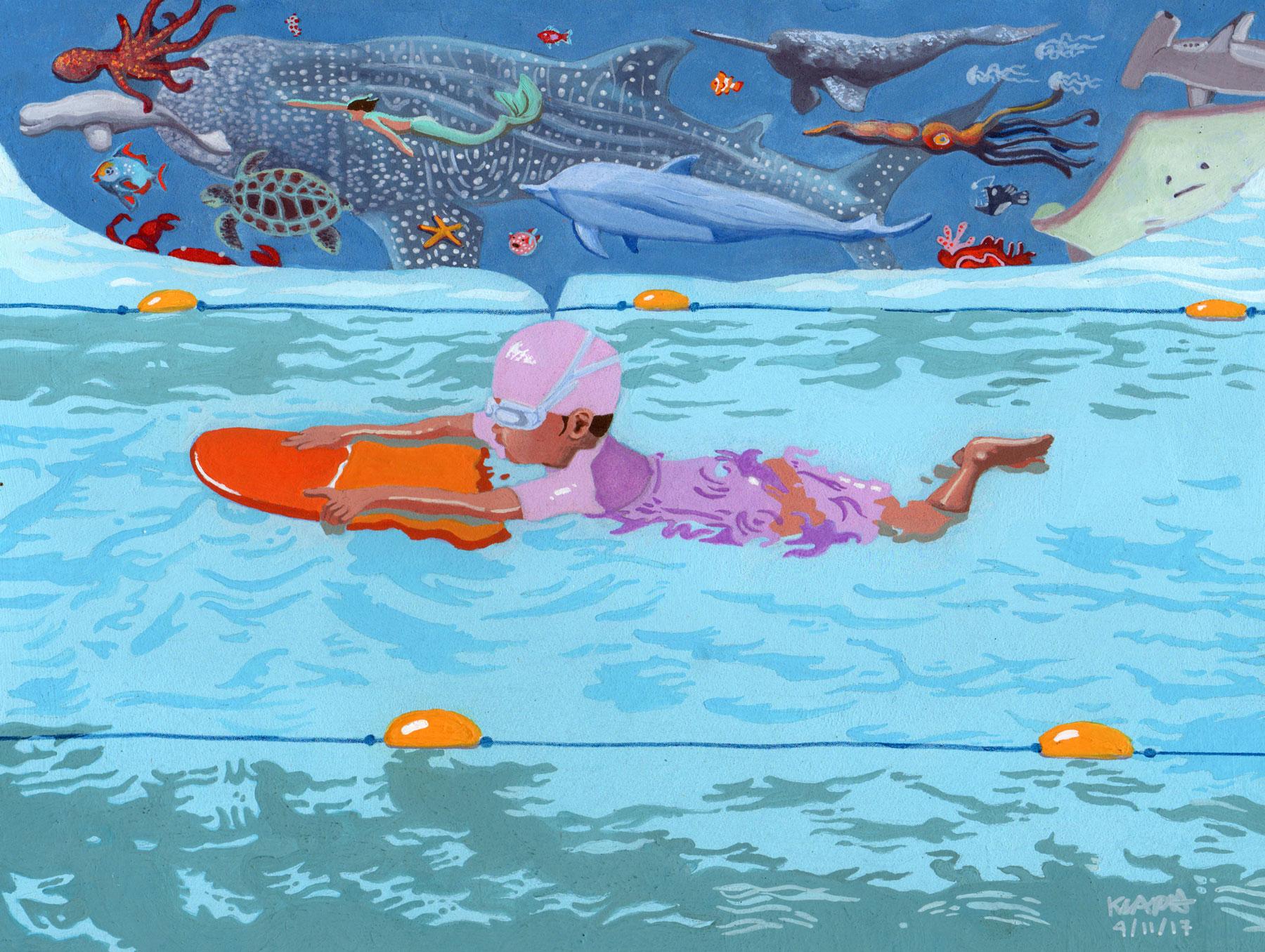 First Swimming Lesson - Kuki Ulpindo